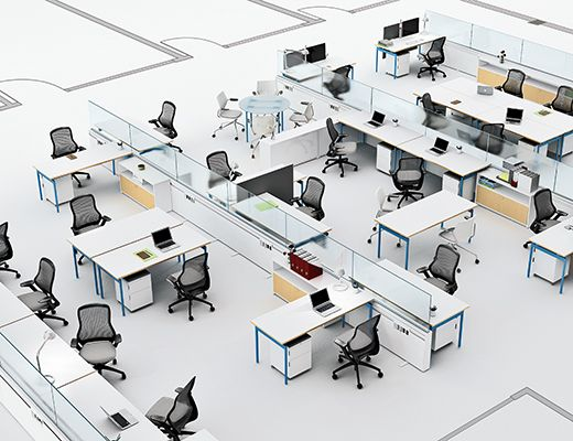 35 best desk systems images on pinterest office spaces - Office floor plan design software ...