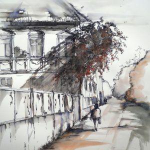 Il 20 Gennaio alle Ore 15:30 -Durata 2 ore di fronte all'arte facendo s'impara: dipingere paesaggi urbani.Visitare con mamma e papà la mostra di Tangerini.