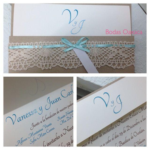 Invitaciones de boda V y JC #bodasoaxaca #bo #vintage #bodas #weddinginvitations #Oaxaca