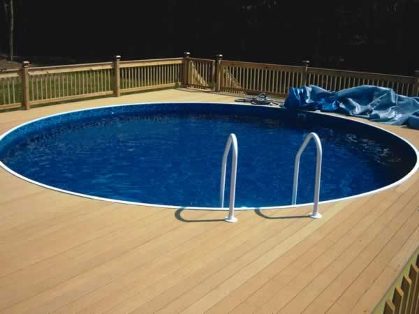 i like this deck doesnt have to go all the way around though above ground pool landscapingabove ground