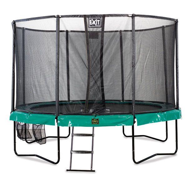 Trampoliini lapsille - Exit Supreme ø305 leveä trampoliinipaketti sopii hyvin pienemmille lapsille!