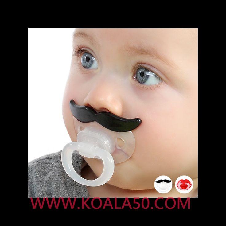 Chupete Ergonómico con Bigote o Labios - 1,71 €  ¡Si buscas cosas para bebés originales y divertidas, no te pierdasel chupete ergonómico con Bigote o Labios! Se adaptaperfectamente a la cavidad bucal del bebé gracias a su forma ortodóntica...  http://www.koala50.com/regalos-para-bebes/chupete-ergonomico-con-bigote-o-labios