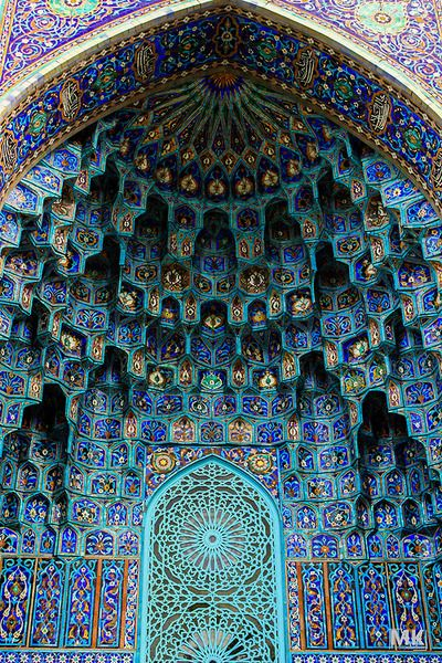 Pattern, color, shape...wow! Islamic mosaic, Russia