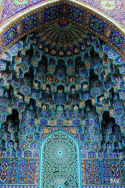 Pattern, color, shape...wow! Islamic mosaic, Russia