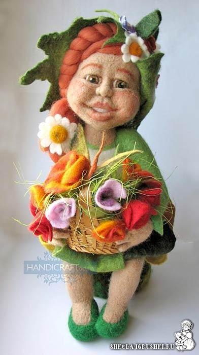 *NEEDLE FELT ART ~ Валяная кукла, автор Светлана Сиряченко, http://www.livemaster.ru/sirychok