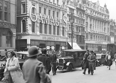 Gamages, in Holborn. The store was well-known for its unrivalled selection of children's toys. It finally closed in 1972, and no trace of the original buildings remain.
