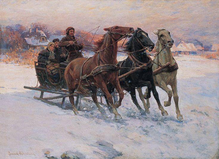 """Zygmunt Ajdukiewicz """"Sanna"""", ok. 1890, olej na płótnie, 64 x 87,5 cm, własność prywatna"""