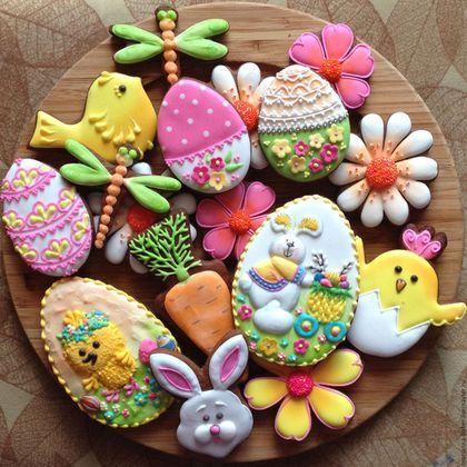 """Easter gingerbread set / Кулинарные сувениры ручной работы. Ярмарка Мастеров - ручная работа. Купить Набор пряников """"Пасха"""". Handmade. Комбинированный, пасхальный подарок"""