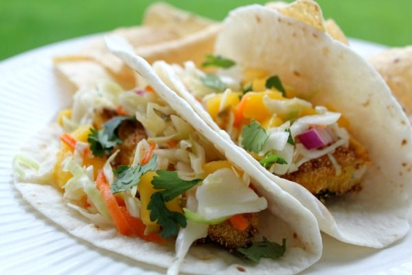 Try this recipe for Fish Tacos with Jalapeno Mango Slaw the next time it's Taco Night at your house. It's a winner! @Kasey Schwartz - All Things Mamma