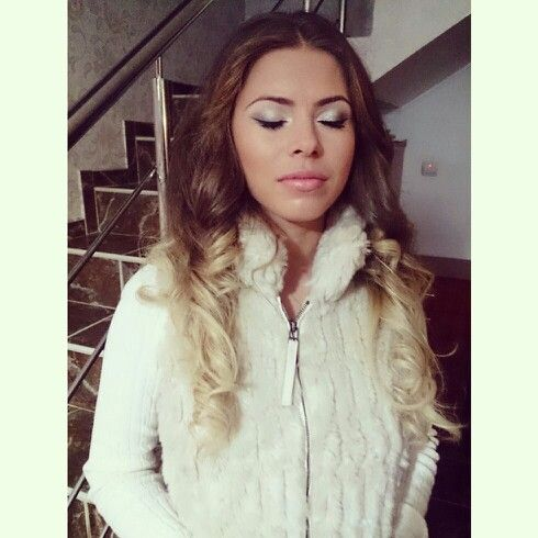 A beautiful lady!  makeup made by me:)