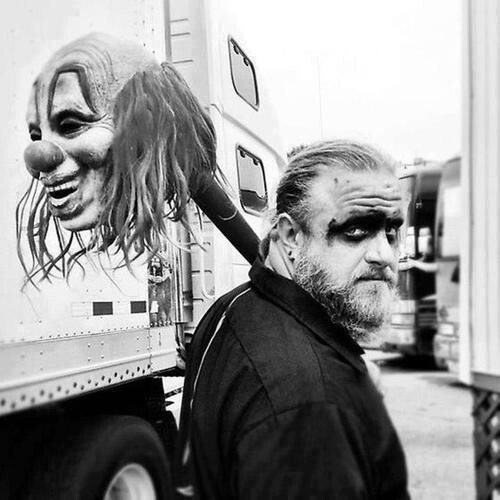 "Slipknot -Shawn ""Clown"" Crahan #6 - Can't believe I ran into this man TWICE at Knotfest!!!"