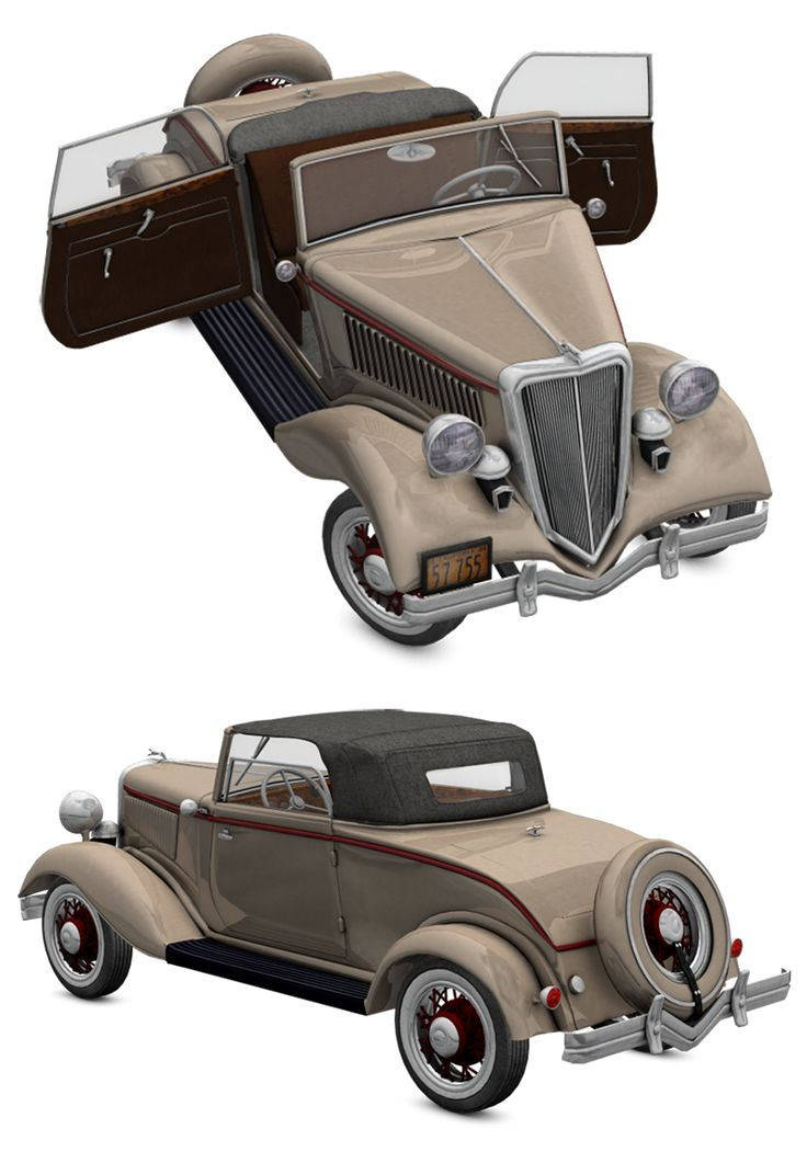 This is 3d model inspired in the 1934 Ford model 40  Modelled in Wings3d and rendered in Poser