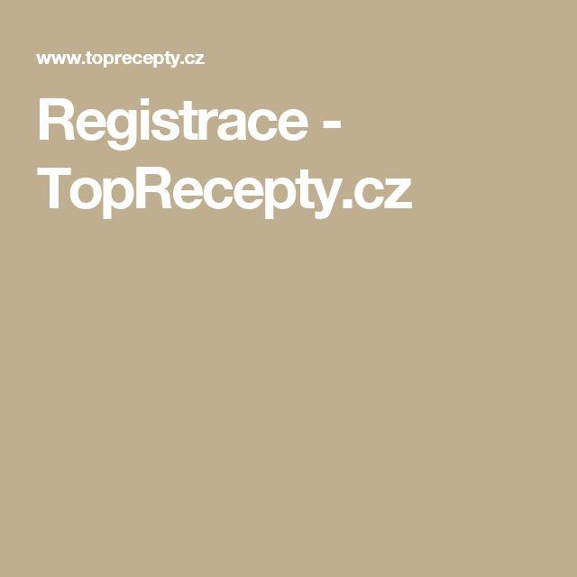 Registrace - TopRecepty.cz