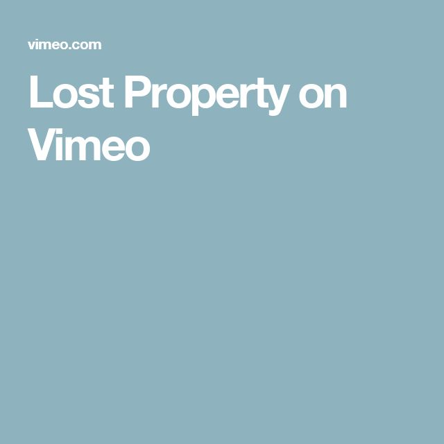 Lost Property on Vimeo