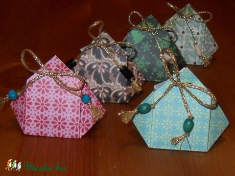 Origami ajándék dobozok (origamikatana) - Meska.hu