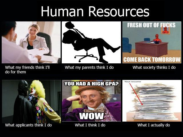 Been there What people think I do, Human Resources