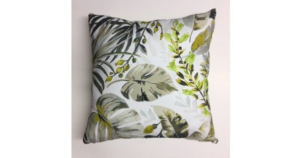 Ava Spring Scatter Cushion 60cm X 60cm Floral and leaf prints with plain back. Made from Hertex Fabric 100% cotton front and back.