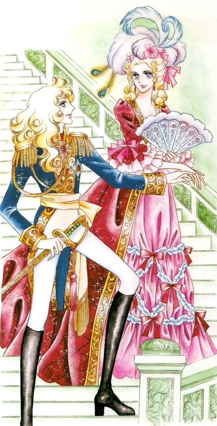 Commandant Oscar François de Jarjayes (1755-1789) et la Reine Marie-Antoinette (1755-1793)