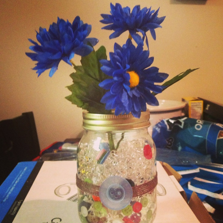 buttons baby shower centerpieces in mason jars more party time shower
