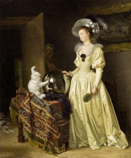Marguerite Gérard posa en el estudio de Fragonard en 'El gato de angora' (1783-85). El nombre de la artista siempre permaneció a la sombra del pintor. Una exposición en el Museo Nacional de Suecia rescata la obra de las pintoras francesas y suecas de los siglos XVII y XVIII, a menudo ninguneadas por ser mujeres