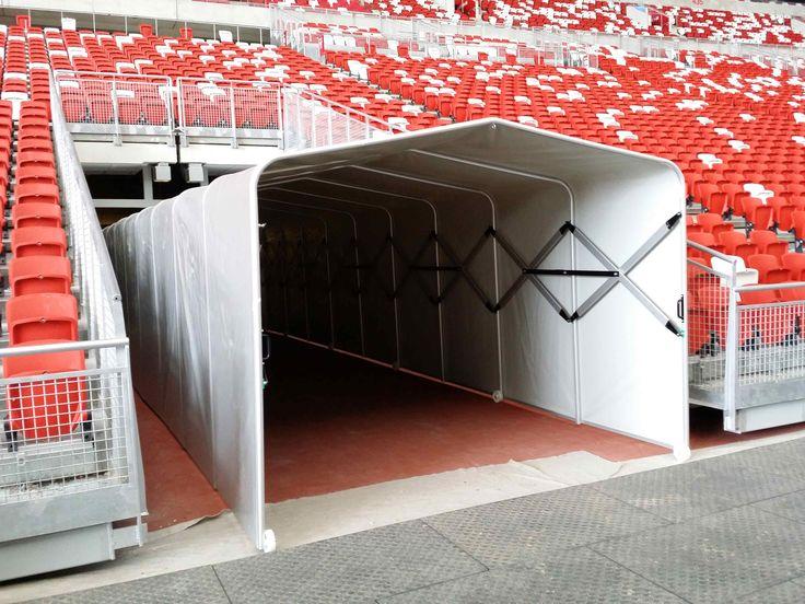 Tunel retracatabil stadion, sala sport , tunel retractabil arena sportiva