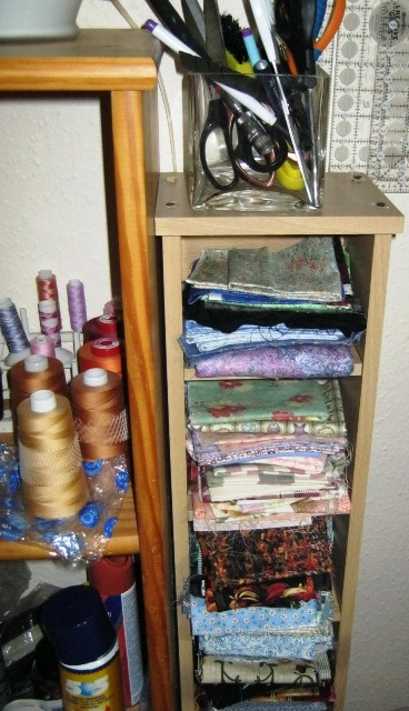 Good I Like The Idea Of Using A Cd Storage Tower For Fat Quarters. Possibly  Goodwill