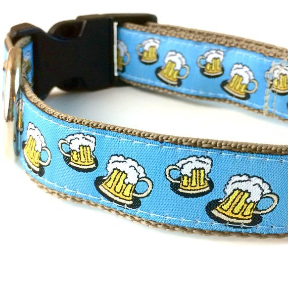 Beer Themed Oktoberfest Dog Collar Leash Or Harness With
