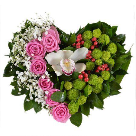 Цветочное сердце | Заказать цветочное сердце с доставкой | UFL