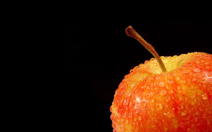 яблоко, роса, капли, вода, фрукт