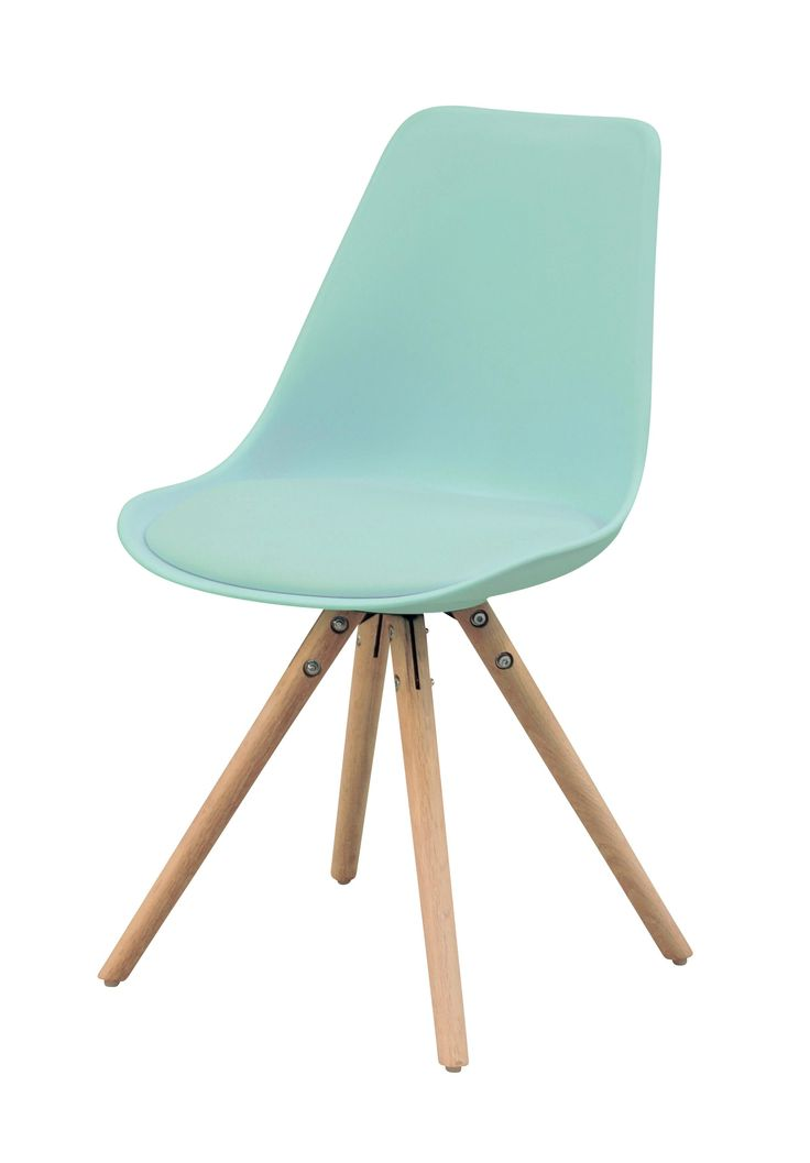 But chaise oslo vert d 39 eau design scandinave existe en 7 for Chaise haute style eames