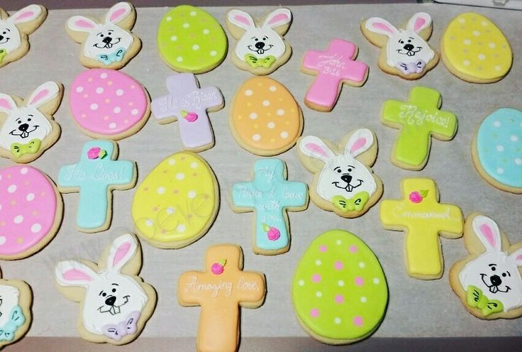 "Easter cookies gor church! Jesus cares no EGG-CEPTIONS (1 Peter 5:7), No""bunny"" loves you like Jesus (John 3 :16)"