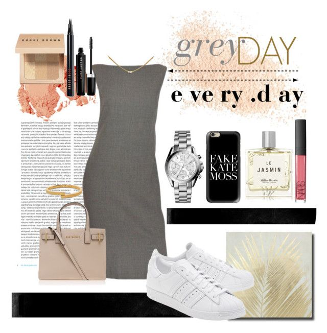 """#18 [ grey day e ve ry .d ay ]"" by jovitapsutiono ❤ liked on Polyvore featuring Eve Lom, Oris, Crystal Art, Casetify, Narciso Rodriguez, adidas Originals, Kurt Geiger, Michael Kors, Dogeared and Vita Fede"