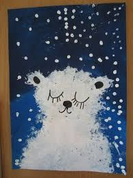 Imagini pentru peinture ours polaire maternelle