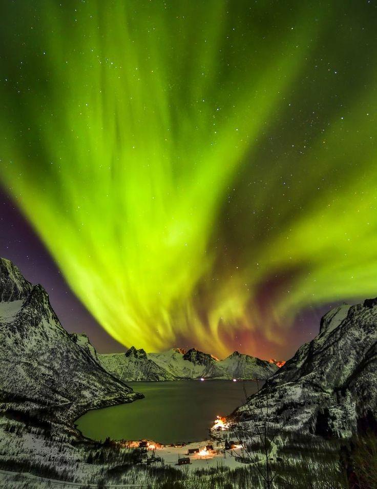 Aurora Borealis Senja Island Norway Aurora Borealis