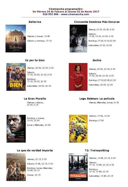 Cartelera Cinemancha del viernes 24 de febrero al jueves 2 de marzo - https://herencia.net/2017-02-24-cartelera-cinemancha-del-viernes-24-febrero-al-jueves-2-marzo/?utm_source=PN&utm_medium=herencianet+pinterest&utm_campaign=SNAP%2BCartelera+Cinemancha+del+viernes+24+de+febrero+al+jueves+2+de+marzo