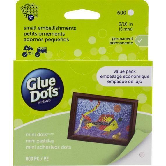 Glue Dots Mini Glue Dots 600 Adhesive Dots Value Pack Glue Dots Adhesive Glue Crafts