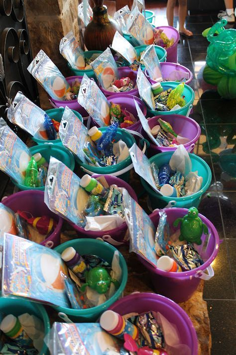Mermaid inspired gift buckets