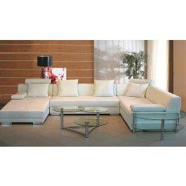 3334 White Ultra modern sectional sofa - 1795.0000