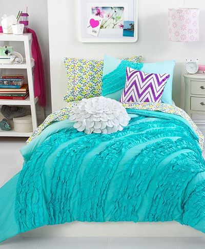 25 best ideas about turquoise bedding on pinterest teal bedding teal and gray bedding and - Cute teenage girl bedding sets ...