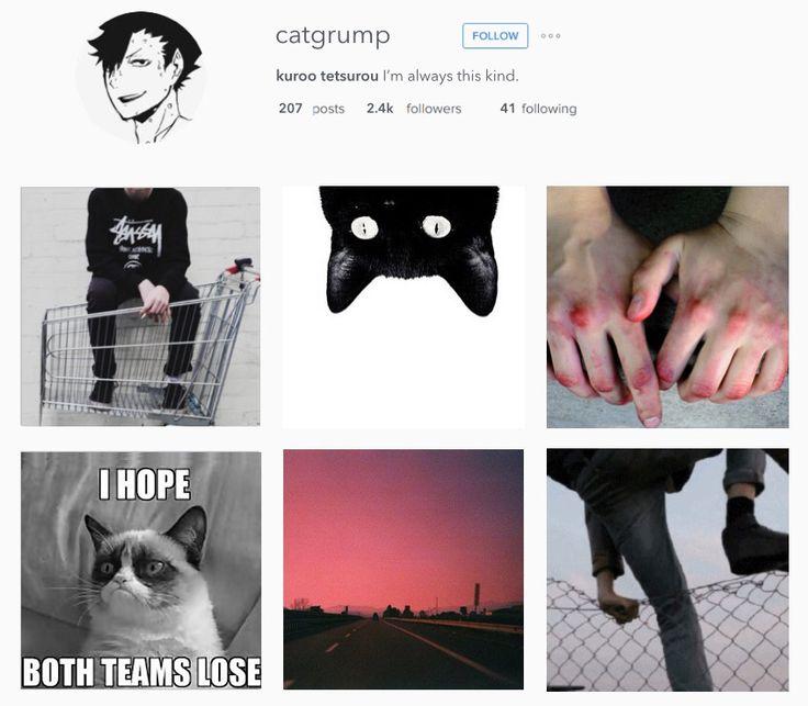 Haikyuu characters on Instagram