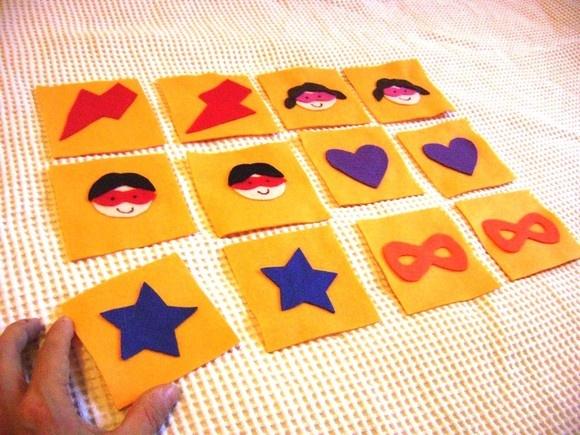 Jogo da memória com 12 peças