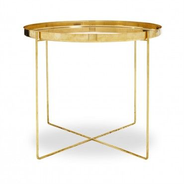 Ornate Large Brass Side Table