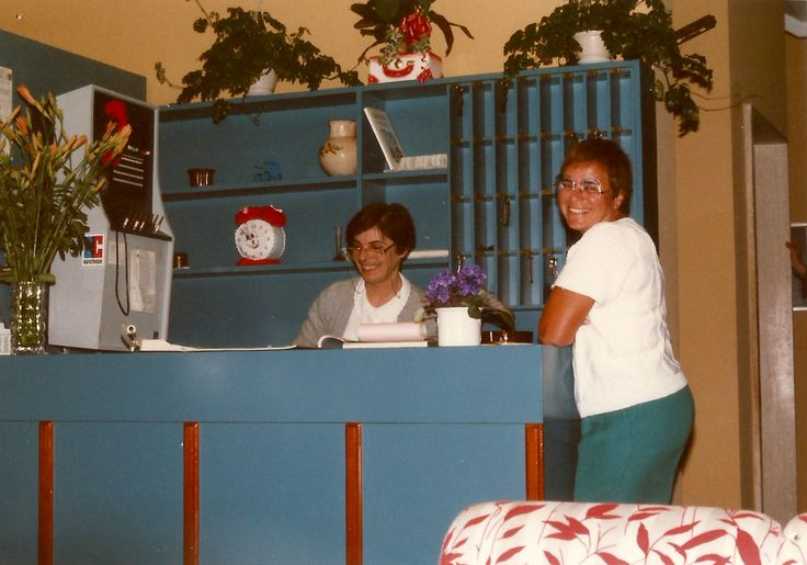 The old reception at #HotelRudyCervia with Fatma