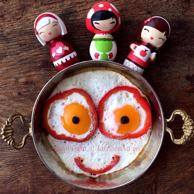 Neşeli omlet :) Çocuk menüleri