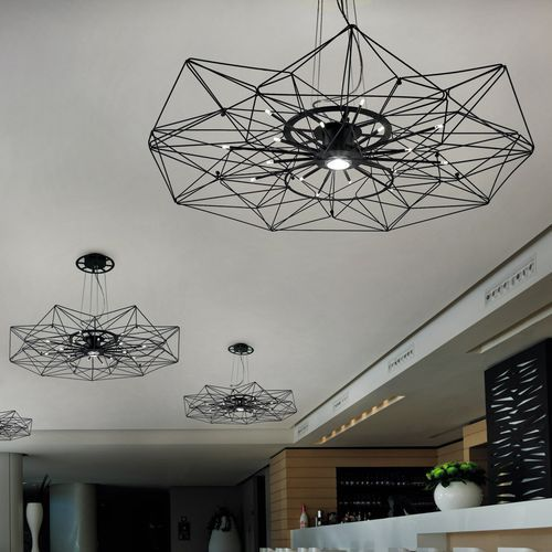 Pendant lamp / contemporary / painted metal / halogen ALTATENSIONE by Massimo Mussapi METAL LUX