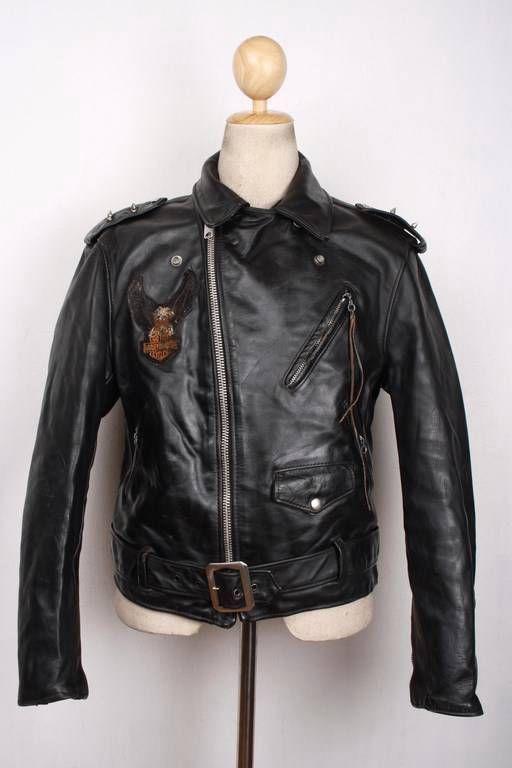 Vtg 80s SCHOTT PERFECTO 618 Steerhide Leather Jacket MOTORCYCLE Medium