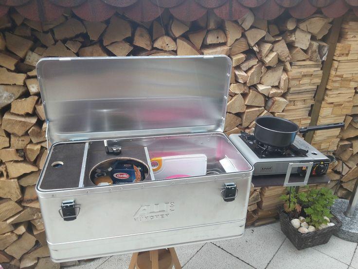 Mobile Camping Küchenbox, Caddy Tramper u.a., Outdoorküche, Zeltküche , Alubox in Auto & Motorrad: Teile, Spezielle Fahrzeug-Teile, Reisemobil- & Caravan-Teile   eBay