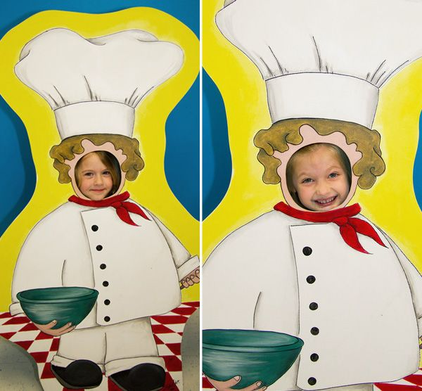 I love cutout photo op things for parties & this is an especially creative one!