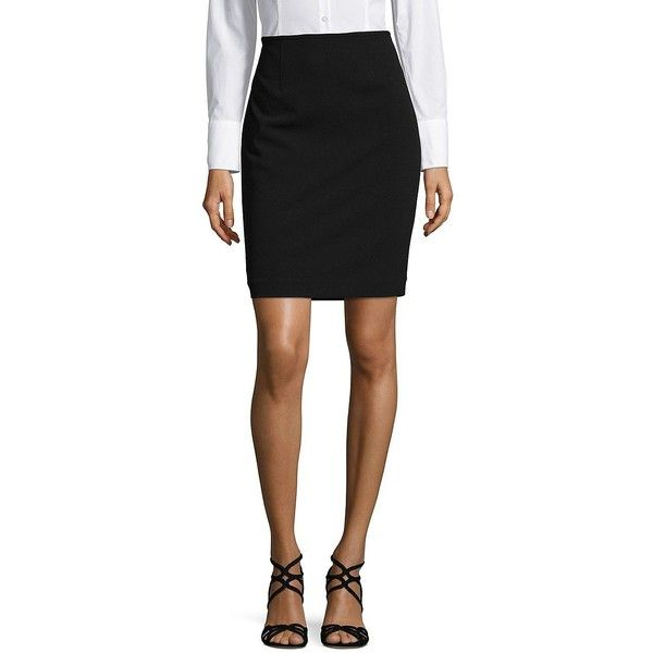 Calvin Klein Women's Petite Classic Pencil Skirt ($63) ❤ liked on Polyvore featuring skirts, black, petite pencil skirt, calvin klein skirt, lined skirt, calvin klein and petite skirts