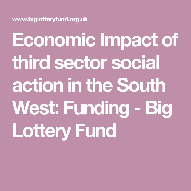 Economic Impact of third sector social action in the South West: Funding - Big Lottery Fund
